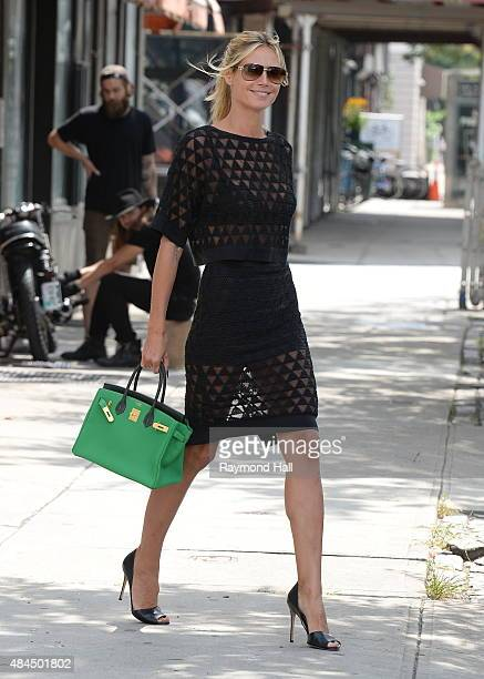 Model Heidi Klum is seen walking in Soho on August 19 2015 in New York City