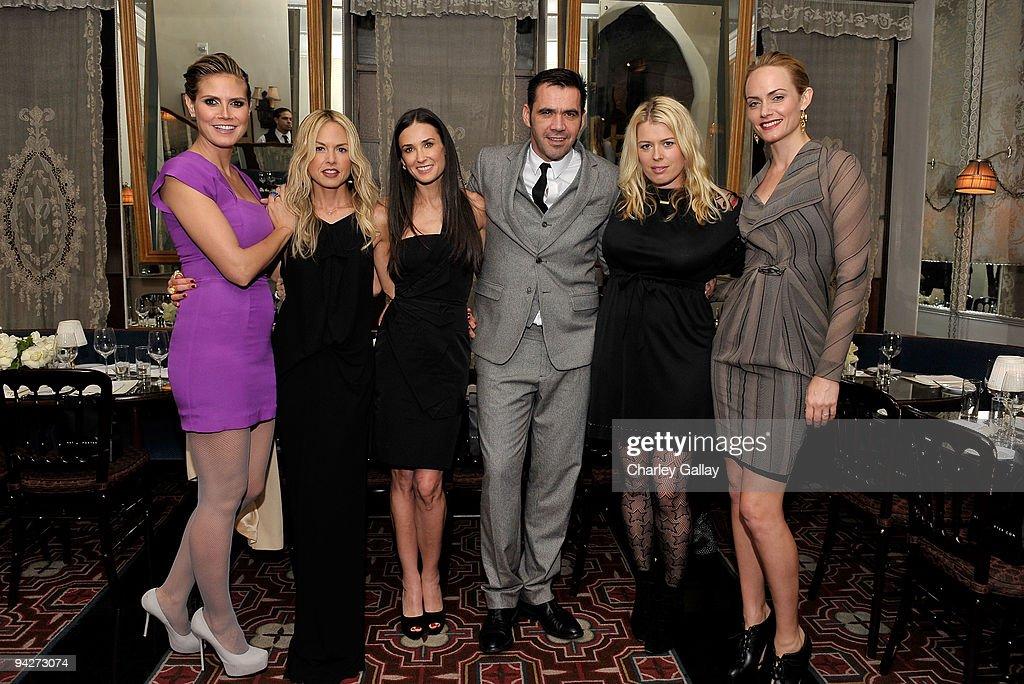 **EXCLUSIVE** Model Heidi Klum stylist Rachel Zoe actress Demi Moore designer Roland Mouret photographer Amanda de Cadenet and actress Amber Valletta...