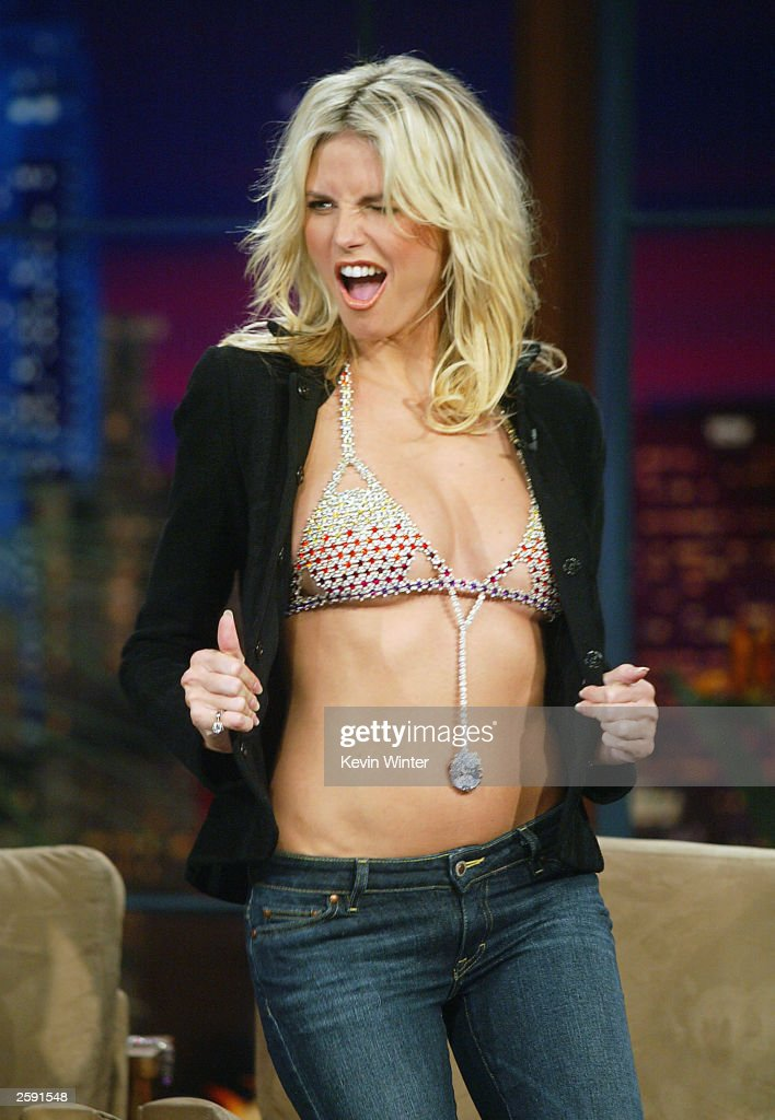 heidi klum appears on the tonight show getty images
