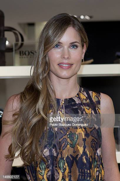 Model Helen Swedin attends the opening of Hugo Boss Store at Calle Jorge Juan on May 31 2012 in Madrid Spain