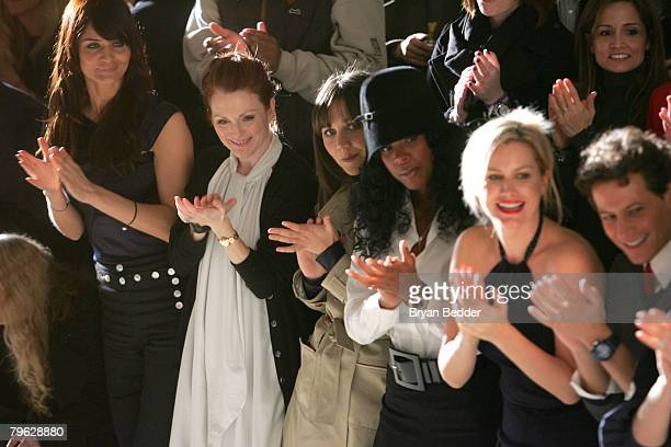 Model Helena Christensen Actress Julianne Moore Actress Maggie Gyllenhaal Singer Kelly Rowland Actress Alice Evans and Actor Ioan Gruffudd attend the...