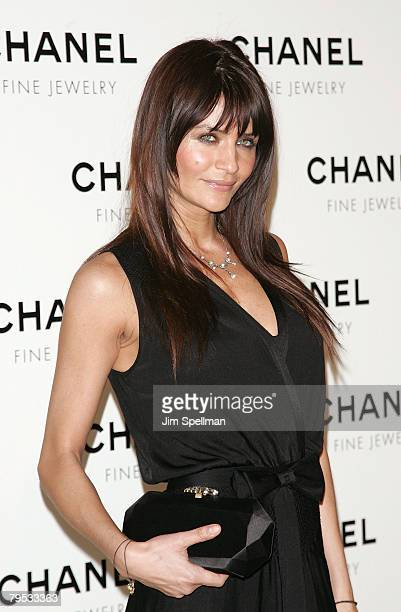 Model Helena Christensen arrives at the 'Nuit de Diamants' hosted by Chanel Fine Jewelry at the Plaza Grand Ballroom on January 16 2008 in New York...