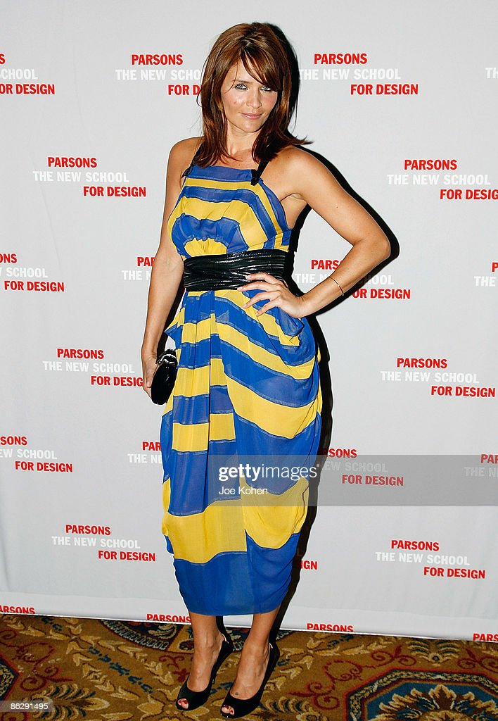 Model Helena Christensen attends the 2009 Parsons Fashion benefit at Cipriani Wall Street on April 29 2009 in New York City