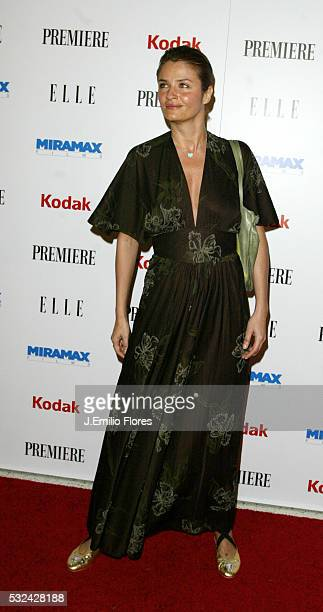 Model Helena Christensen attends the 25th Anniversary Miramax PreOscar Party at the Pacific Design Center
