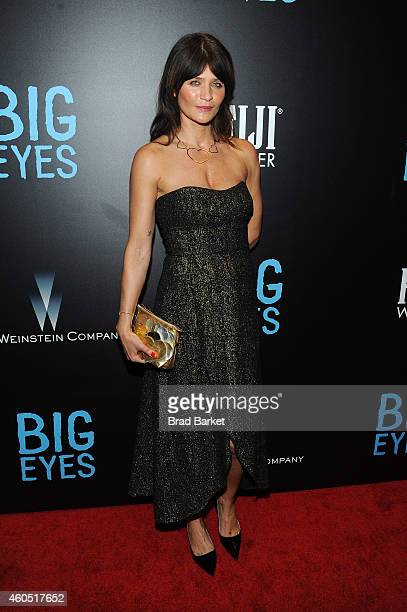 Model Helena Christensen attends the 'Big Eyes' New York Premiere at Museum of Modern Art on December 15 2014 in New York City