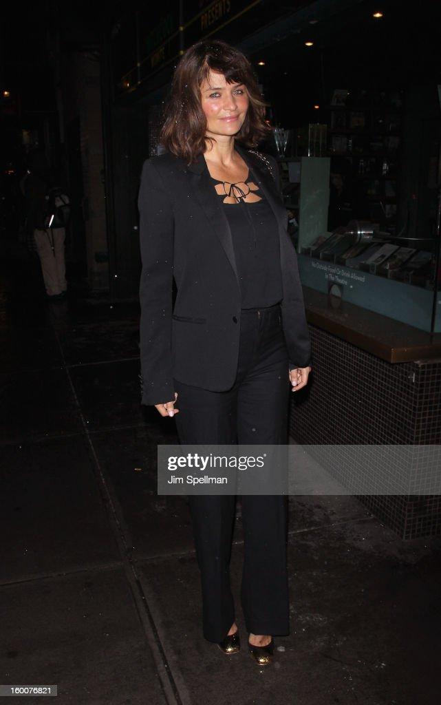 Model Helena Christensen attends The Cinema Society and Artistry screening of 'Warm Bodies' at Landmark's Sunshine Cinema on January 25, 2013 in New York City.
