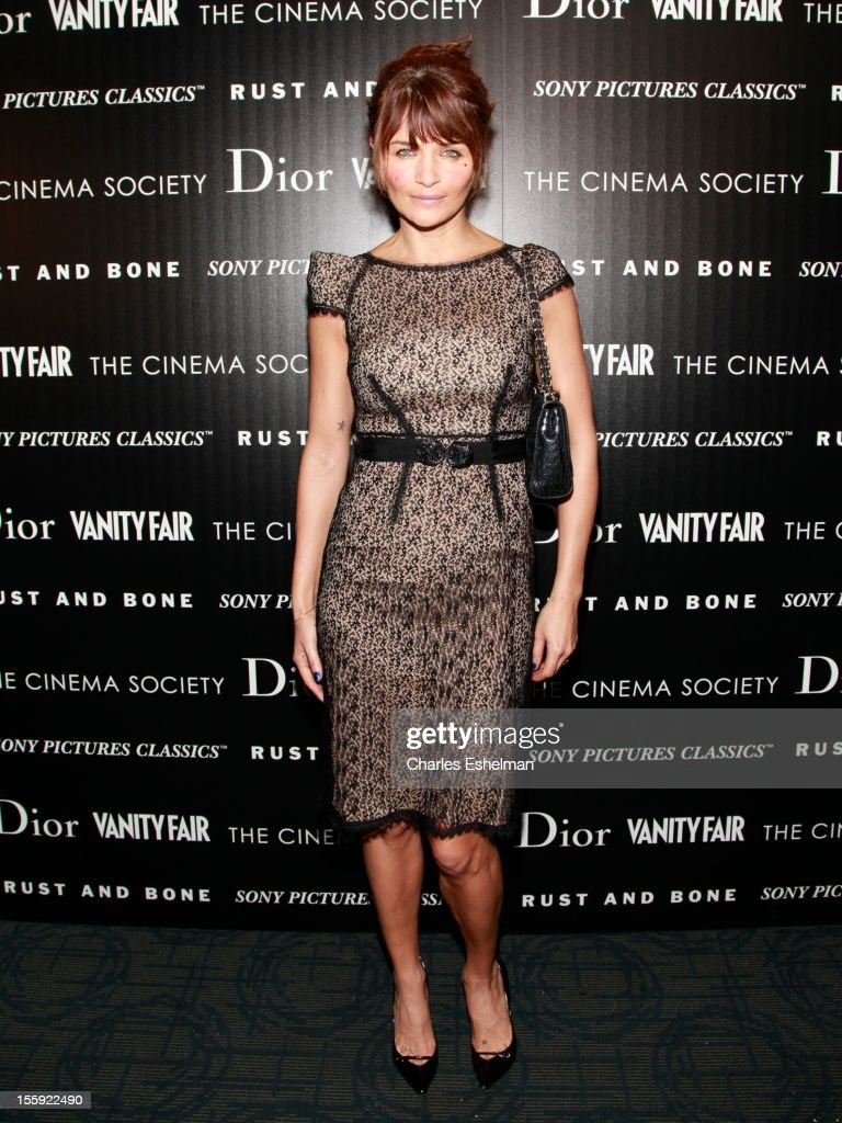 Model Helena Christensen attends The Cinema Society with Dior & Vanity Fair host a screening of 'Rust and Bone' at Landmark Sunshine Cinema on November 8, 2012 in New York City.