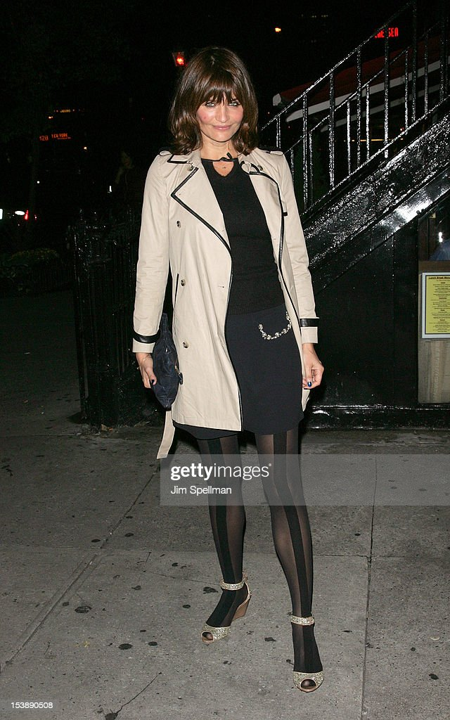 Model Helena Christensen attends The Cinema Society with Hugo Boss and Appleton Estate screening of 'Seven Psychopaths' at Clearview Chelsea Cinemas on October 10, 2012 in New York City.