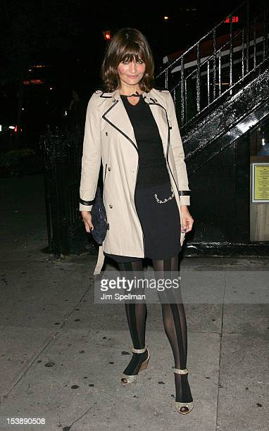 Model Helena Christensen attends The Cinema Society with Hugo Boss and Appleton Estate screening of 'Seven Psychopaths' at Clearview Chelsea Cinemas...
