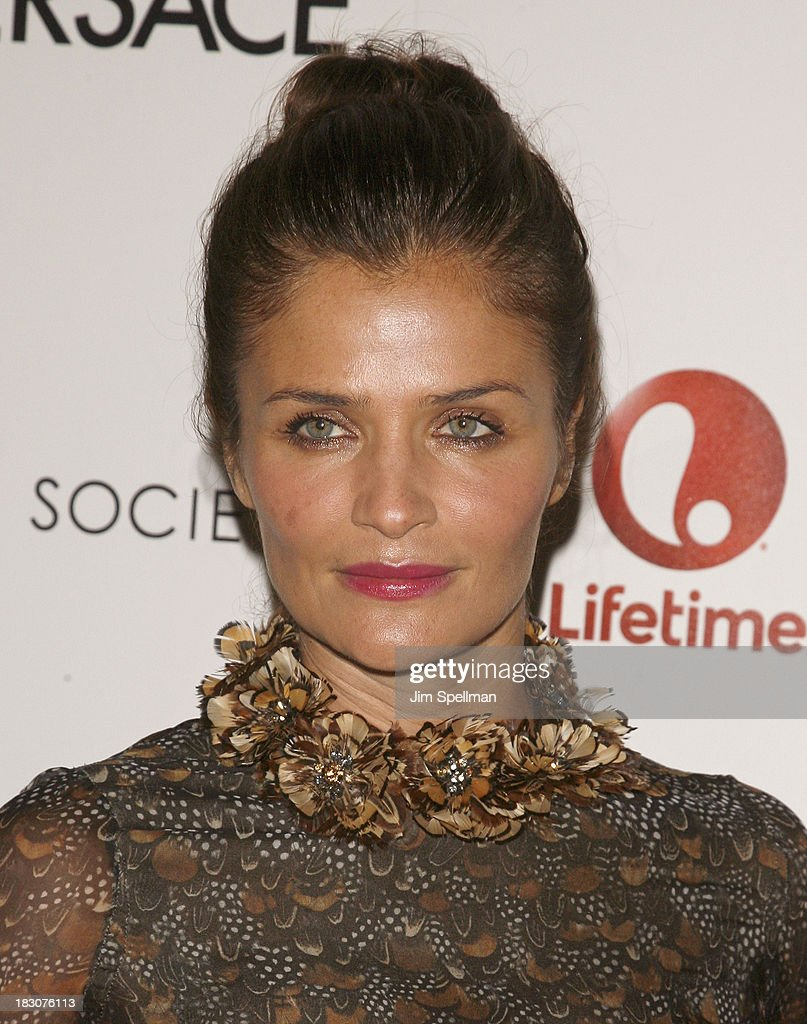 Model <a gi-track='captionPersonalityLinkClicked' href=/galleries/search?phrase=Helena+Christensen&family=editorial&specificpeople=202841 ng-click='$event.stopPropagation()'>Helena Christensen</a> attends the Marvista Entertainment & Lifetime with The Cinema Society screening of 'House of Versace' at Museum of Modern Art on October 3, 2013 in New York City.
