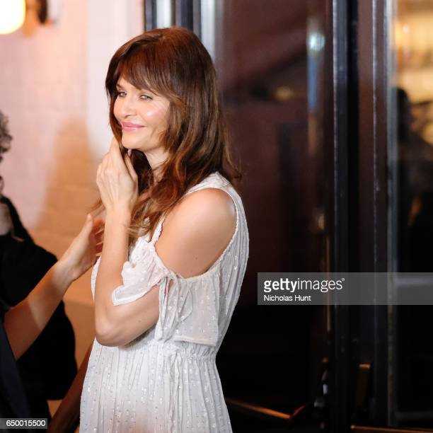 Model Helena Christensen attends the Metrograph Theater 1st Year Anniversary Party at The Metrograph on March 8 2017 in New York City