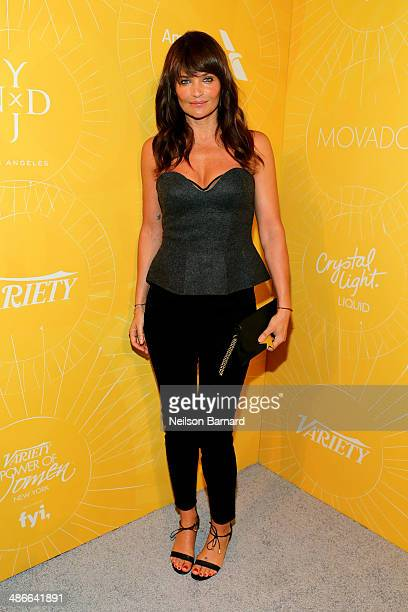 Model Helena Christensen attends Variety Power Of Women New York presented by FYI at Cipriani 42nd Street on April 25 2014 in New York City