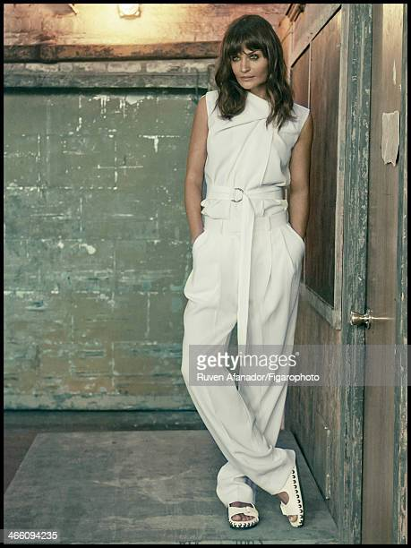 108682006 Model Helena Christensen is photographed for Madame Figaro on December 13 2013 in New York City Top pants and belt sandals PUBLISHED IMAGE...