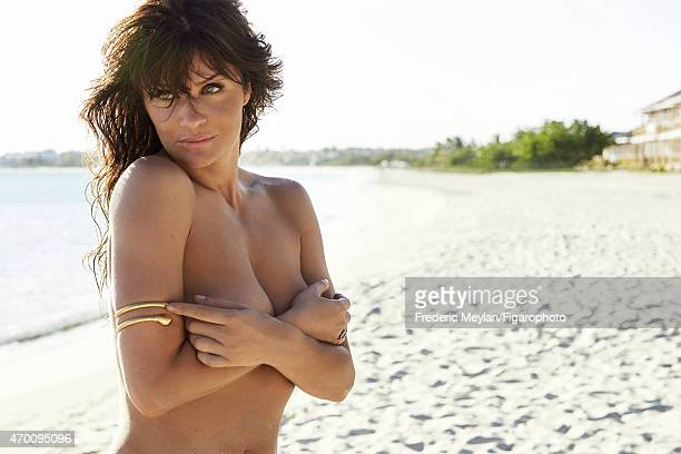Model Helena Christensen is photographed for Madame Figaro on March 20 2015 in Guadeloupe Saint Martin Beauty by Dior Bracelet ring CREDIT MUST READ...
