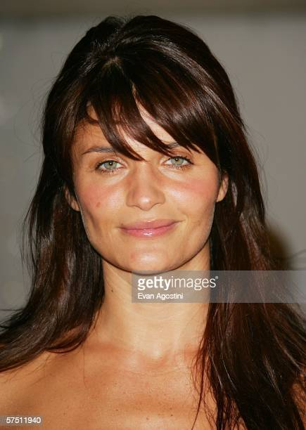 Model Helena Christensen leaves the Metropolitan Museum of Art Costume Institute Benefit Gala 'AngloMania Tradition and Transgression in British...