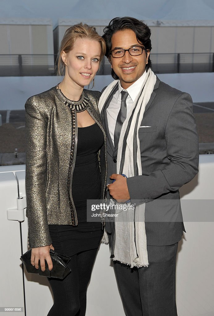 Model Helena Houdova and Omar Amanat attend the 'Art of Elysium Paradis Dinner and Party' at Michael Saylor's Yacht, Slip S05 during the 63rd Annual Cannes Film Festival on May 19, 2010 in Cannes, France.