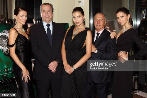Model Henri Barguirdjian Model Michel Pitteloud and Model attend The Private Unveiling of GRAFF Time Watch Collection 1 at Graff on June 11 2009 in...