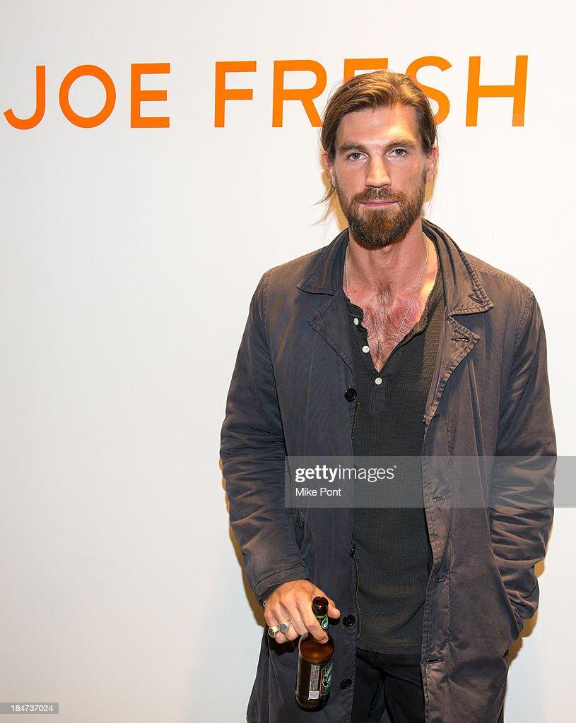 Model Henrik Fallenius attends the Joe Fresh Soho opening party at Joe Fresh Soho on October 15 2013 in New York City