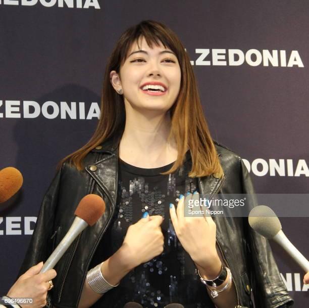 Model Hikari Mori attends a Calzedonia press conference on May 21 2015 in Tokyo Japan