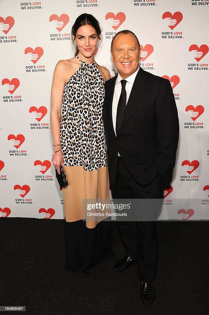 Model Hilary Rhoda (L) and Designer Michael Kors attends God's Love We Deliver 2013 Golden Heart Awards Celebration at Spring Studios on October 16, 2013 in New York City.