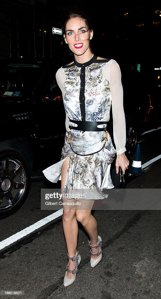 Model <a gi-track='captionPersonalityLinkClicked' href=/galleries/search?phrase=Hilary+Rhoda&family=editorial&specificpeople=637945 ng-click='$event.stopPropagation()'>Hilary Rhoda</a> arrives at the 2013 Victoria's Secret Fashion Show at TAO Downtownon November 13, 2013 in New York City.