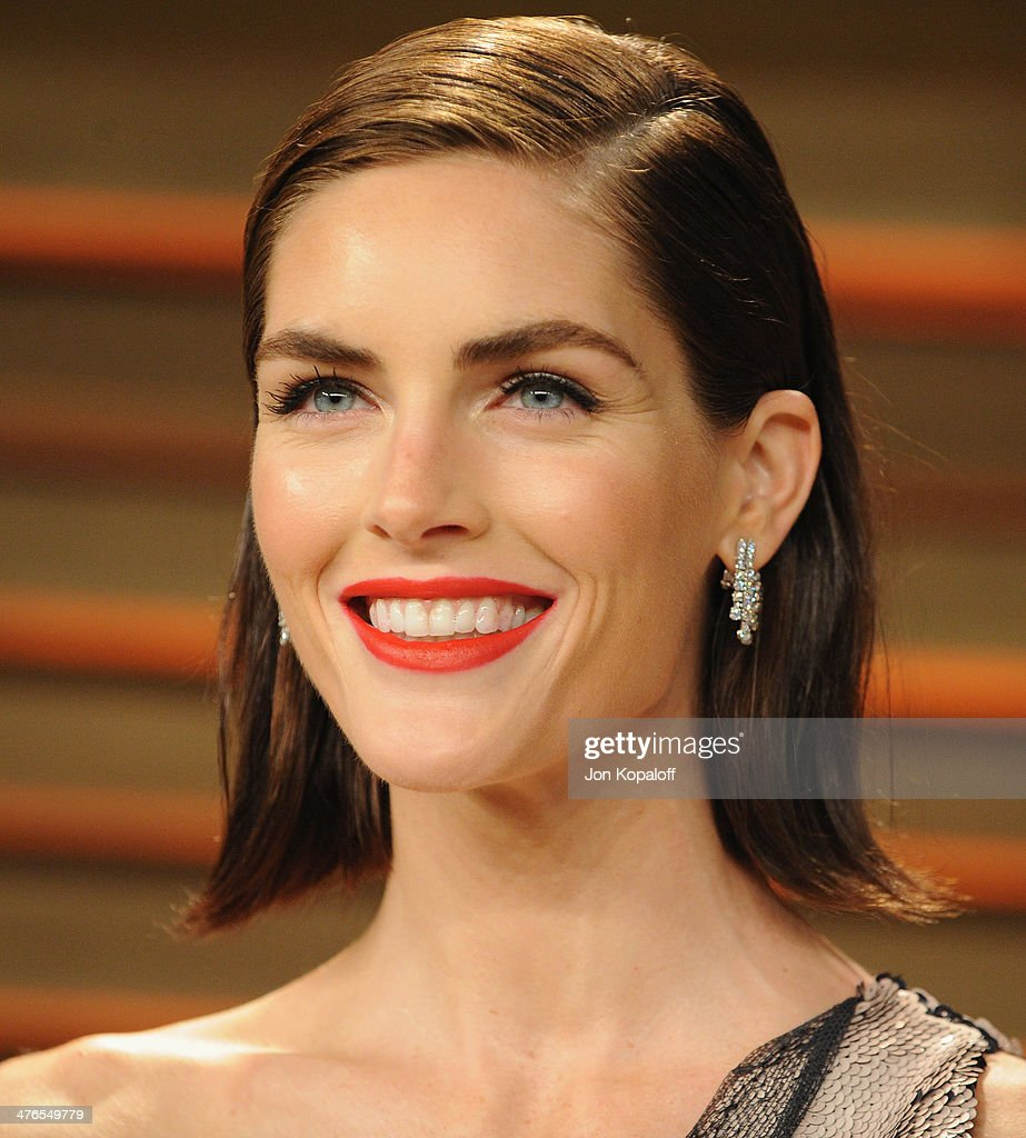 Model Hilary Rhoda arrives at the 2014 Vanity Fair Oscar Party Hosted By Graydon Carter on March 3, 2014 in West Hollywood, California.