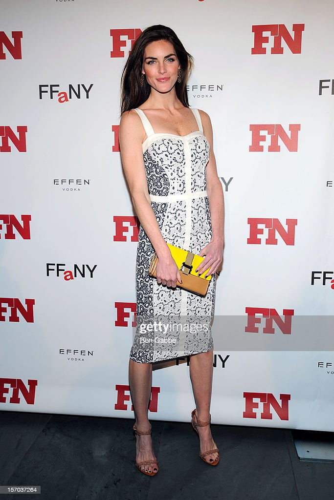 Model Hilary Rhoda attends 2012 Footwear News Achievement Awards at MOMA on November 27, 2012 in New York City.