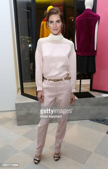 Model Hilary Rhoda attends 31 Phillip Lim NYC Flagship Store Opening on September 9 2014 in New York City