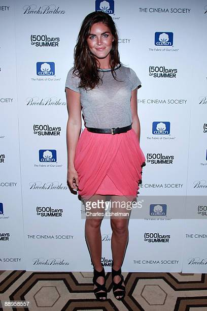 Model Hilary Rhoda attends a screening of '500 Days of Summer' hosted by the Cinema Society with Brooks Brothers Cotton at the Tribeca Grand...