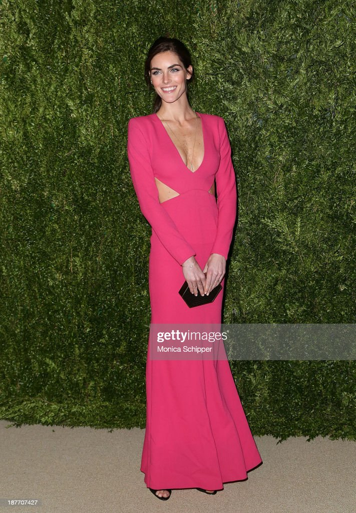 Model Hilary Rhoda attends CFDA and Vogue 2013 Fashion Fund Finalists Celebration at Spring Studios on November 11, 2013 in New York City.