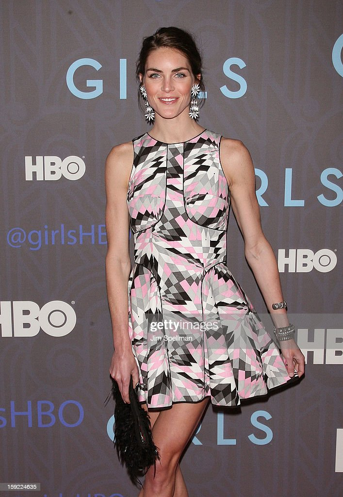 Model Hilary Rhoda attends Cinema Society Presents The World Premiere Of 'Girls' Season 2at NYU Skirball Center on January 9, 2013 in New York City.