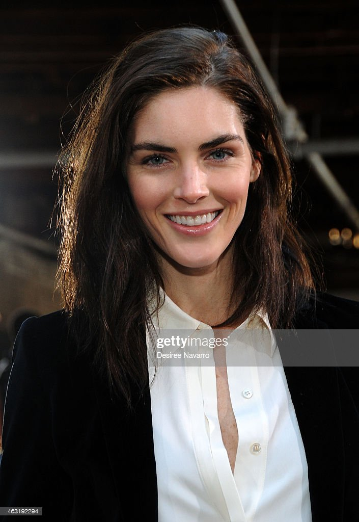 Model <a gi-track='captionPersonalityLinkClicked' href=/galleries/search?phrase=Hilary+Rhoda&family=editorial&specificpeople=637945 ng-click='$event.stopPropagation()'>Hilary Rhoda</a> attends FRAME Denim Presentation Mercedes-Benz Fashion Week Fall 2015 on February 11, 2015 in New York City.
