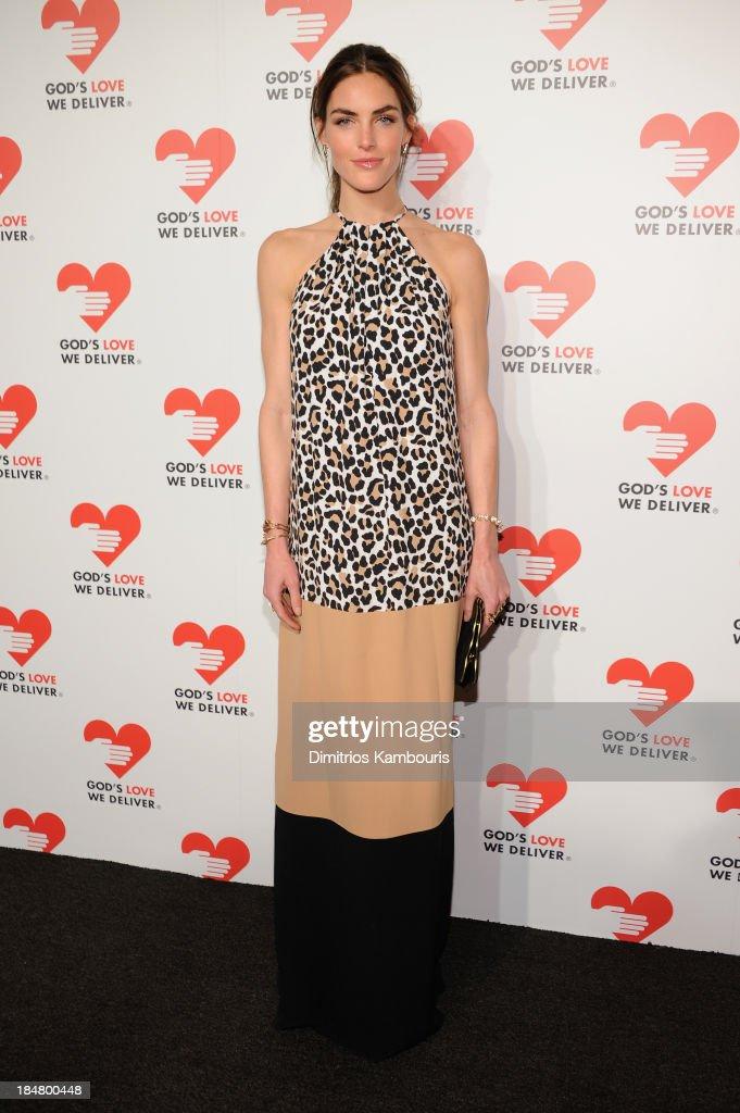 Model Hilary Rhoda attends God's Love We Deliver 2013 Golden Heart Awards Celebration at Spring Studios on October 16, 2013 in New York City.