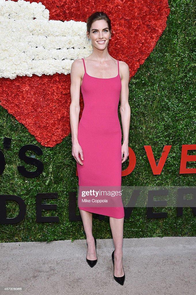 Model Hilary Rhoda attends God's Love We Deliver Golden Heart Awards on October 16 2014 in New York City