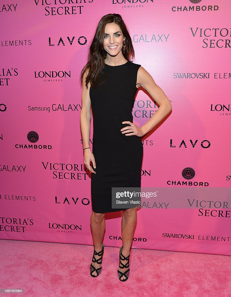 Model Hilary Rhoda attends Samsung Galaxy features arrivals at the official Victoria's Secret fashion show after party on November 7, 2012 in New York City.