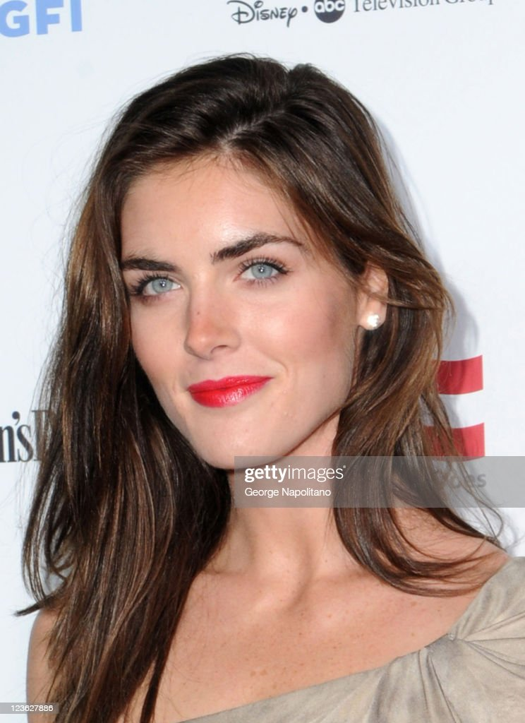 Model Hilary Rhoda attends Stand Up For Heroes presented by the New York Comedy Festival and the Bob Woodruff Foundation at The Beacon Theatre on...