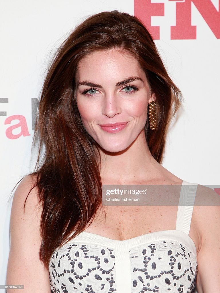 Model Hilary Rhoda attends the 2012 Footwear News Achievement awards at The Museum of Modern Art on November 27, 2012 in New York City.