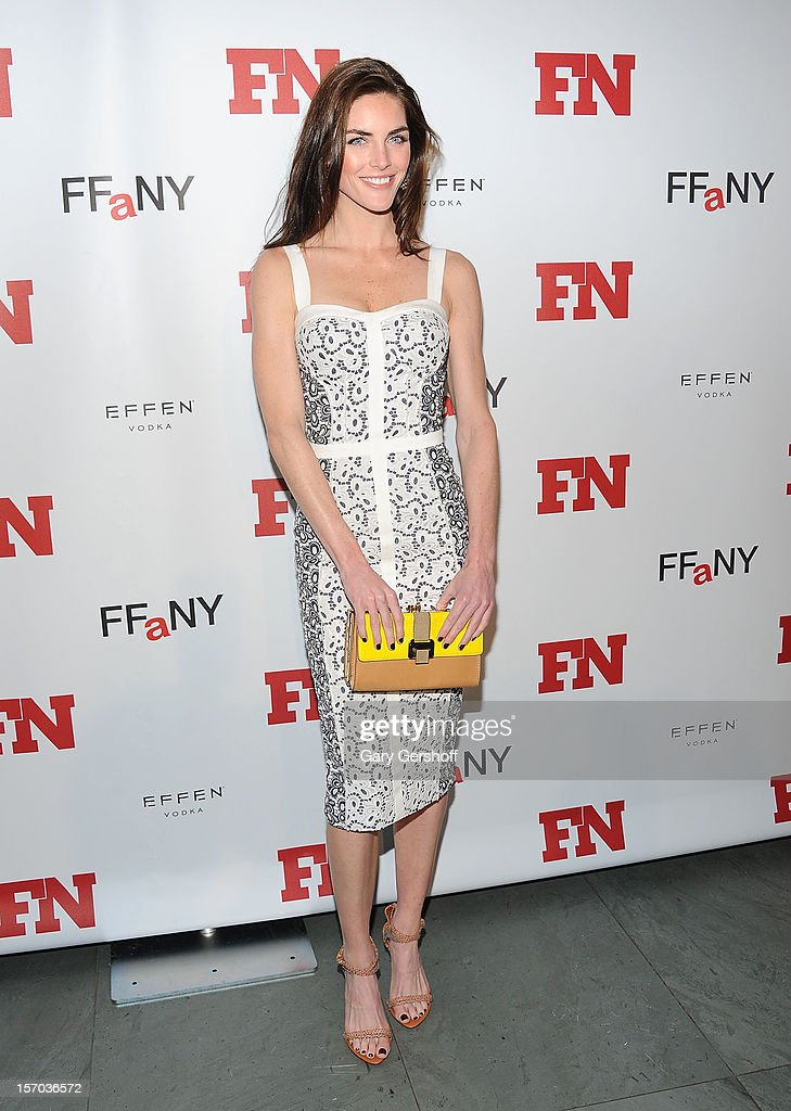 Model Hilary Rhoda attends the 2012 Footwear News Achievement Awards at MOMA on November 27, 2012 in New York City.