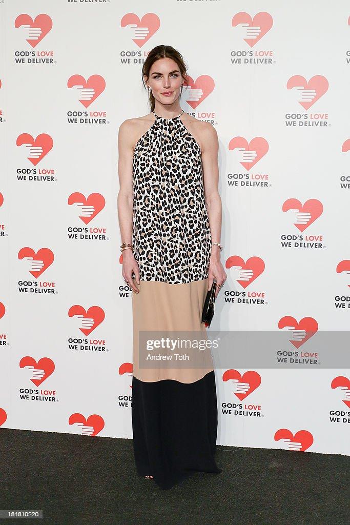 Model Hilary Rhoda attends the 2013 God's Love We Deliver 2013 Golden Heart Awards Celebration at Spring Studios on October 16, 2013 in New York City.