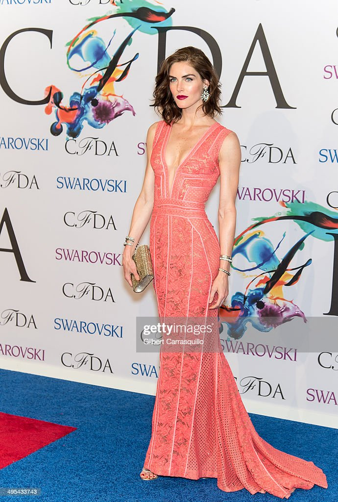 Model Hilary Rhoda attends the 2014 CFDA fashion awards at Alice Tully Hall, Lincoln Center on June 2, 2014 in New York City.