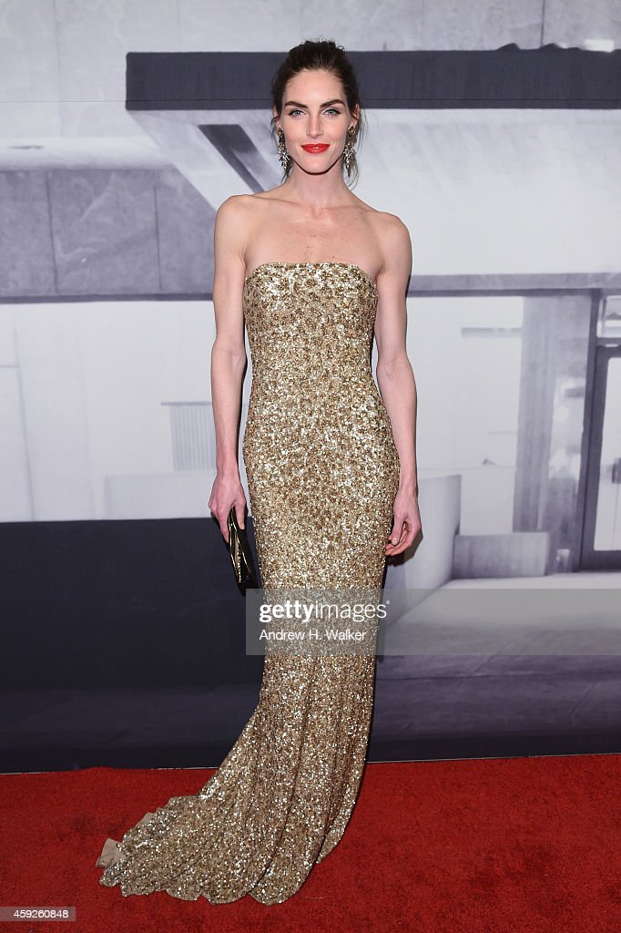 Model Hilary Rhoda attends the 2014 Whitney Gala presented by Louis Vuitton at The Breuer Building on November 19 2014 in New York City