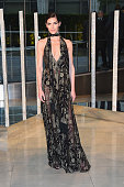 Model Hilary Rhoda attends the 2015 CFDA Fashion Awards at Alice Tully Hall at Lincoln Center on June 1 2015 in New York City