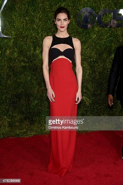 Model Hilary Rhoda attends the 2015 Tony Awards at Radio City Music Hall on June 7 2015 in New York City
