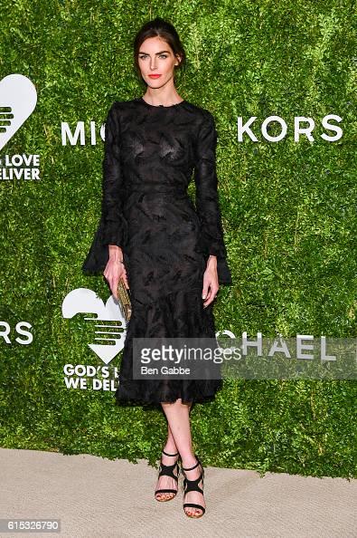 Model Hilary Rhoda attends the 2016 God's Love We Deliver Golden Heart Awards Dinner at Spring Studios on October 17 2016 in New York City