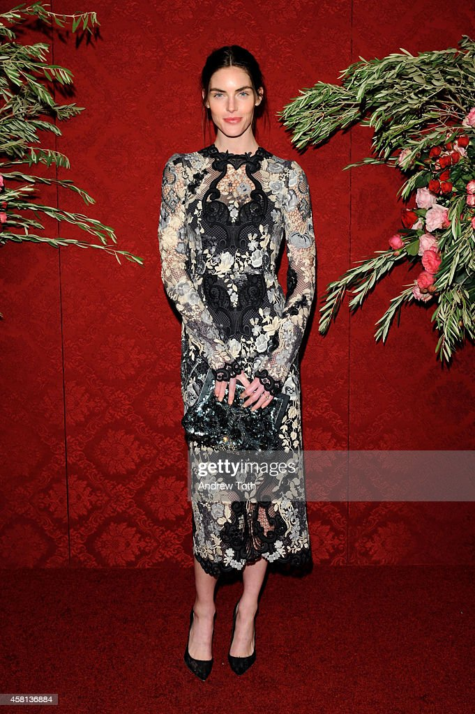 Model Hilary Rhoda attends the 20th Annual Artwalk NY at Metropolitan Pavilion on October 30, 2014 in New York City.