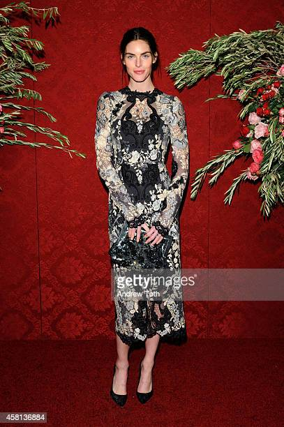 Model Hilary Rhoda attends the 20th Annual Artwalk NY at Metropolitan Pavilion on October 30 2014 in New York City