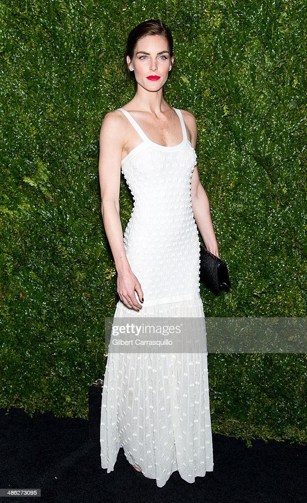 Model Hilary Rhoda attends the 9th annual Chanel Artists Dinner during the 2014 Tribeca Film Festival at Balthazar on April 22, 2014 in New York, New York.