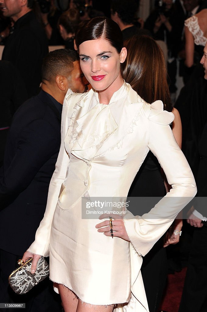 Model Hilary Rhoda attends the 'Alexander McQueen: Savage Beauty' Costume Institute Gala at The Metropolitan Museum of Art on May 2, 2011 in New York City.