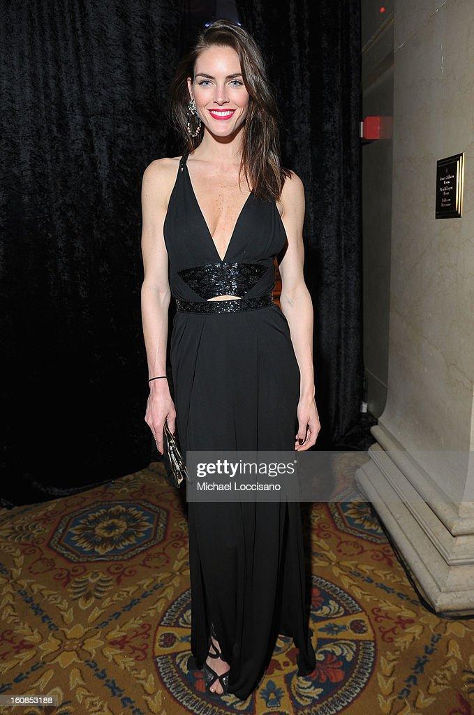 Model Hilary Rhoda attends the amfAR New York Gala to kick off Fall 2013 Fashion Week at Cipriani Wall Street on February 6, 2013 in New York City.