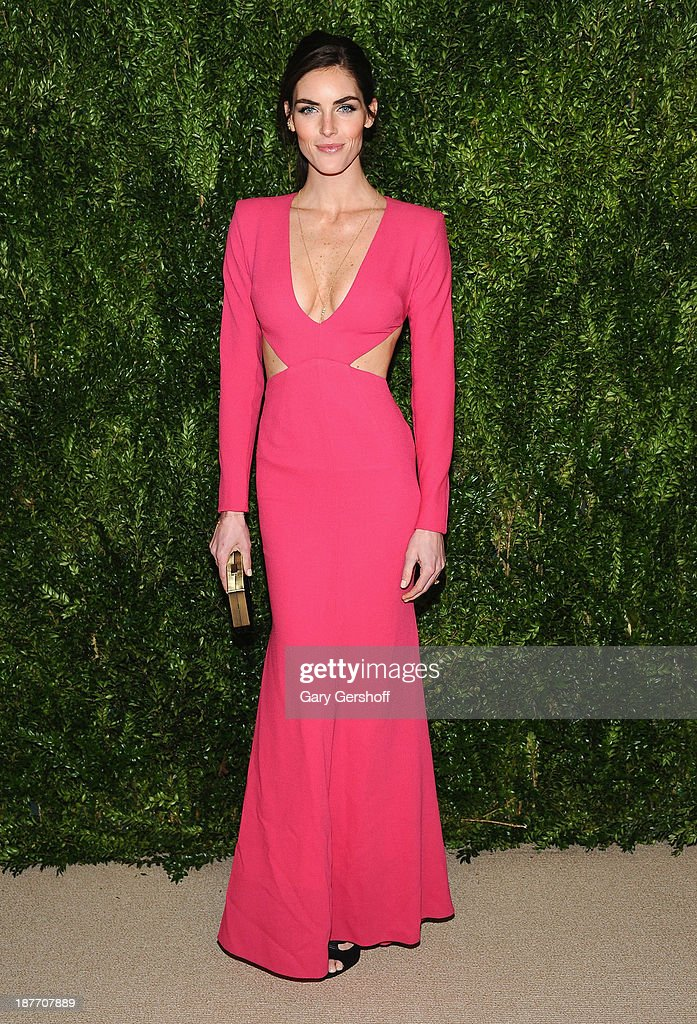 Model Hilary Rhoda attends The CFDA and Vogue 2013 Fashion Fund Finalists Celebration at Spring Studios on November 11, 2013 in New York City.